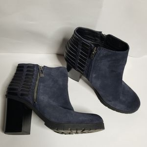 Sam Edelman Circus Chunky Blue Suede Booties